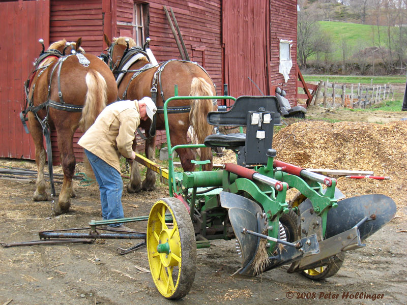 Hitching the plow