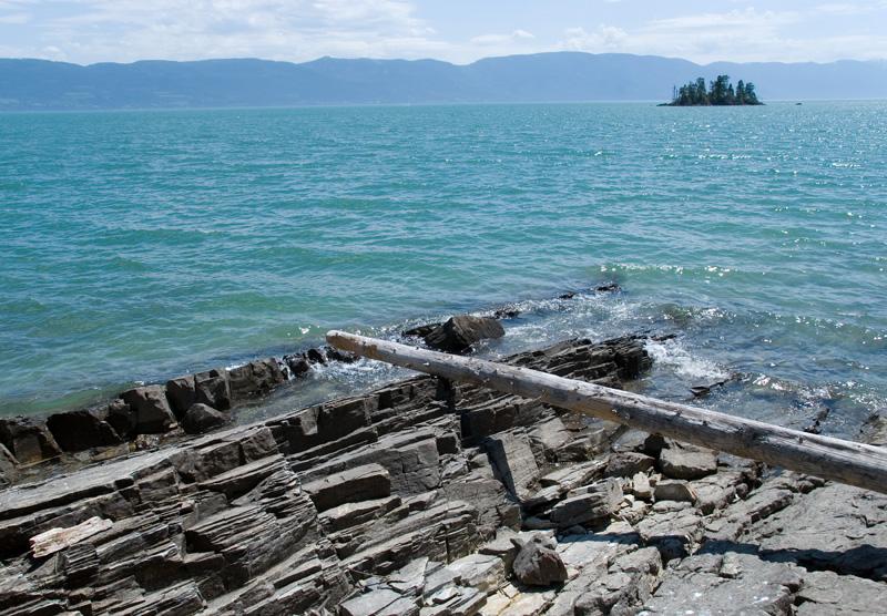 Flathead Lake Rocky Shore