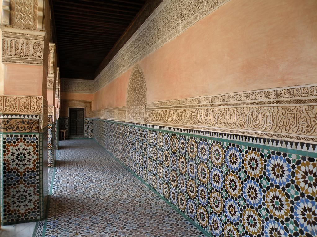 a hallway off the central courtyard