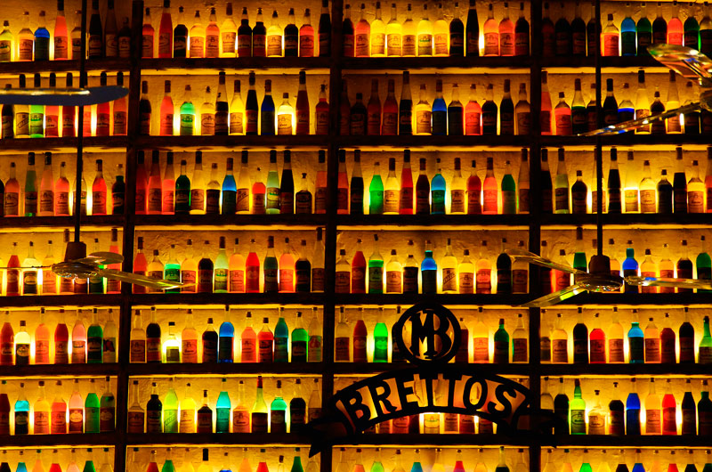 Bottles and colors