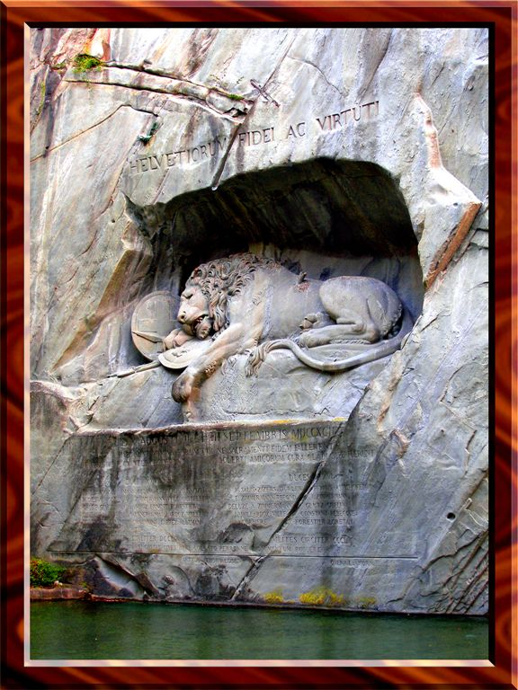 Dying Lion Monument, Lucerne, Switzerland