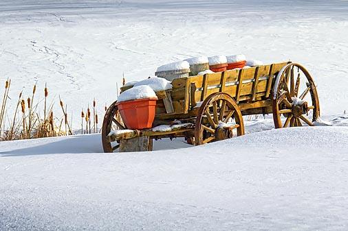 Snowy Old Milk Wagon 20110208
