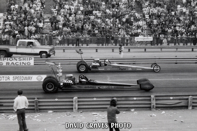 Greg Scheigert owned Hot Tuna driven by John Tarzan Austin vs Candies & Hughes owned Leroy Goldstein, DIMS, 3/73