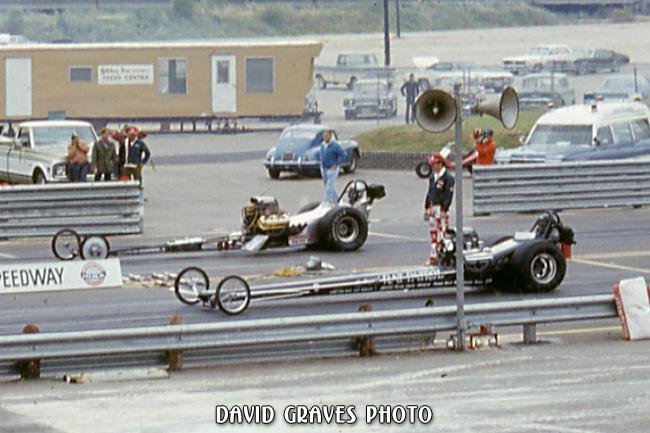 far lane unknown, near lane Larry LaDue Rat Patrol DIMS, Sept 1971