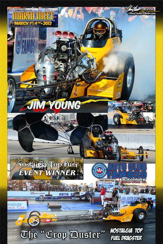 Jim Young March Meet Top Fuel Winner 2012