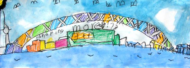long paper - Auckland Bridge, James, age:5.5
