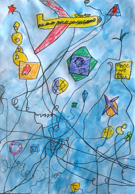 please count the kites, James, age:6
