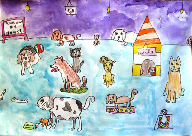 please count the dogs, Polly, age:8