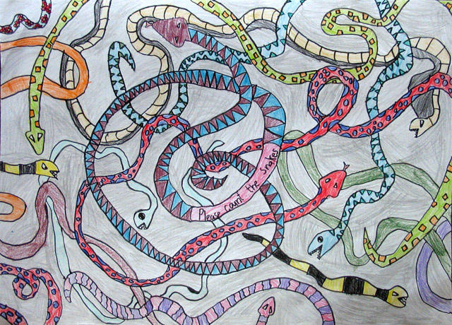 please count the snakes, Lin Hong Yu, age:5.5