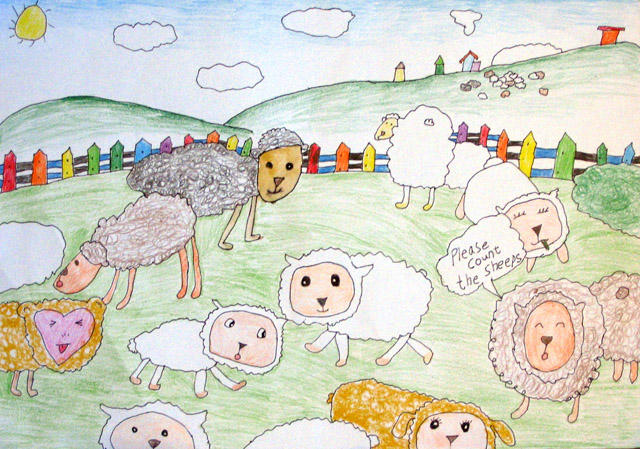 please count the sheeps, Nancy, age:7.5