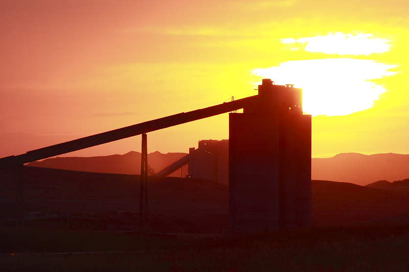 Coal Mine Sunset