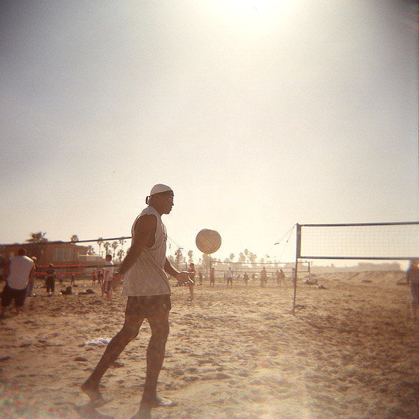 Volleyball at the Beach in Color