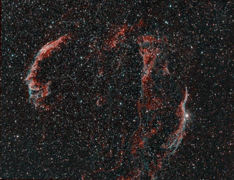 Veil Nebula Complex (Sh2-103, <br>SNR G074.0-08.5)