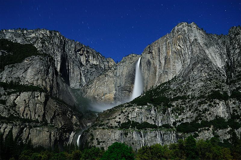 Yosemite Fall by Moon light