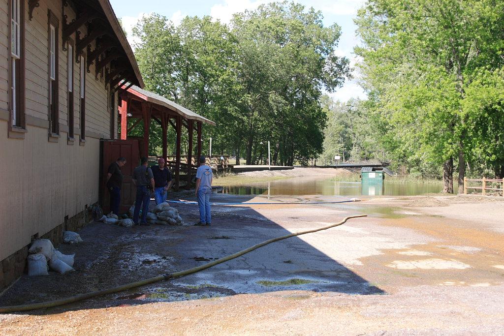 Pumping out the Depot Basement
