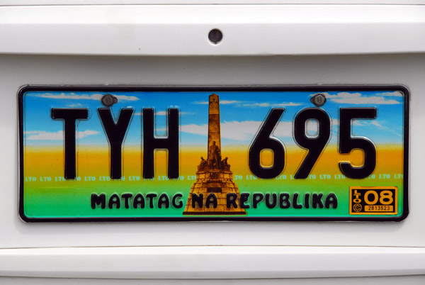 Colorful license plate from the Philippines