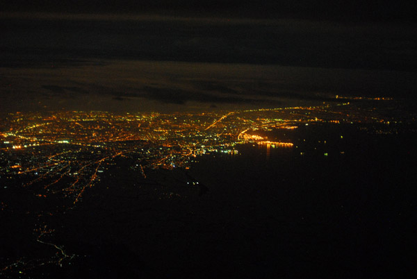 Night aerial of Manila, Philippines