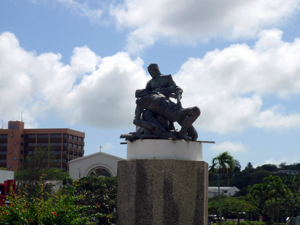 The Pietà of Hagåtña, memorial to Guams fallen heroes, Skinner Plaza