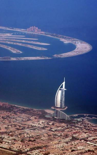 Burj al Arab & Palm Jumeirah aerial