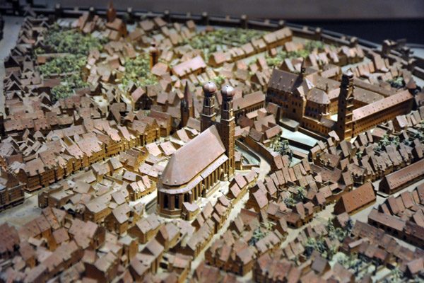 1:616 Model of the City of Munich, 1570, Jakob Sandtner