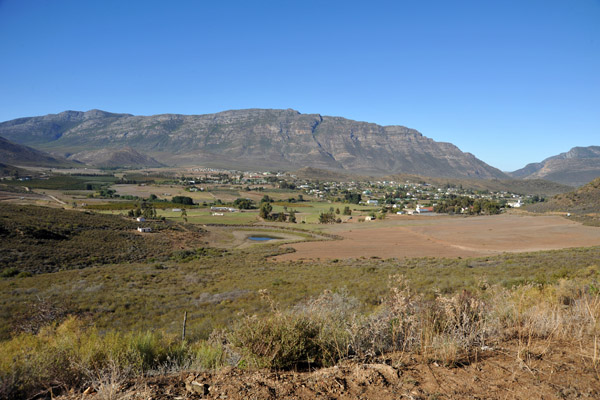 Barrydale and the north side of the Langeberg Mountain Range