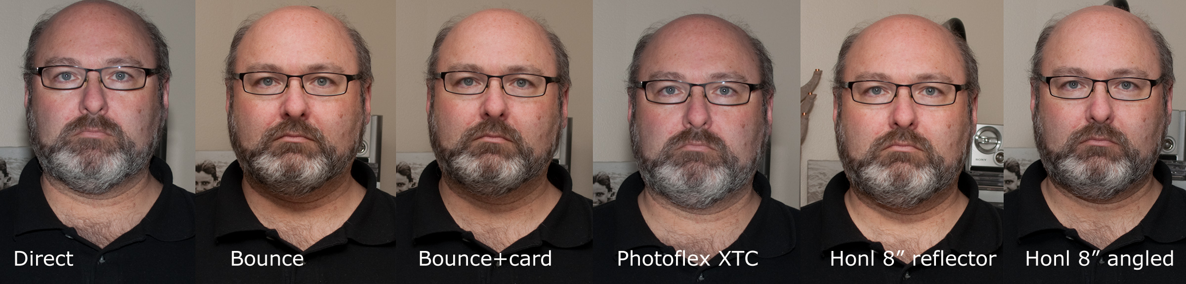 Comparing On-Camera Modifiers