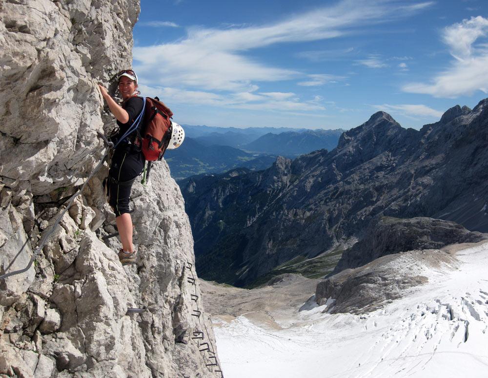 Zugspitze Martina klettersteig traverse