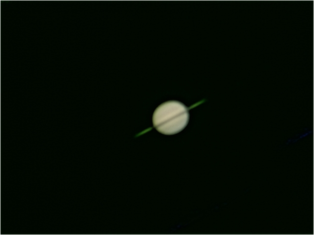 Saturn (rings edge-on) -  10 January 2009