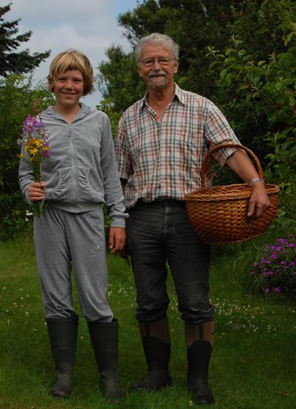 Johanne og farfar