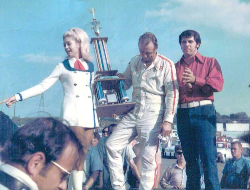 Red Farmer and Hope Hines. News Channel 5 1971