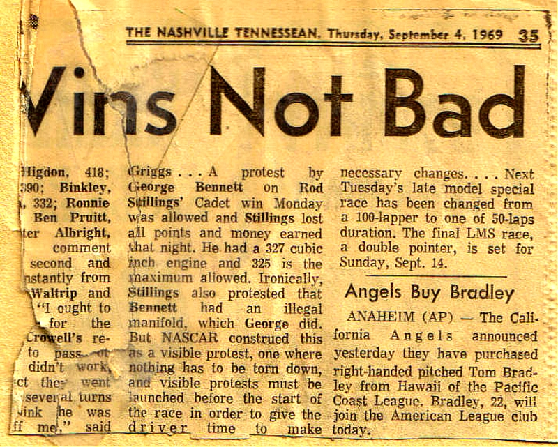 A protest by George Bennett on Rod Stillings September 4, 1969