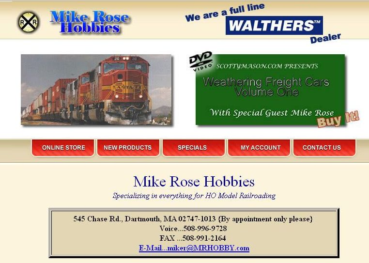 Mike Rose Hobbies site