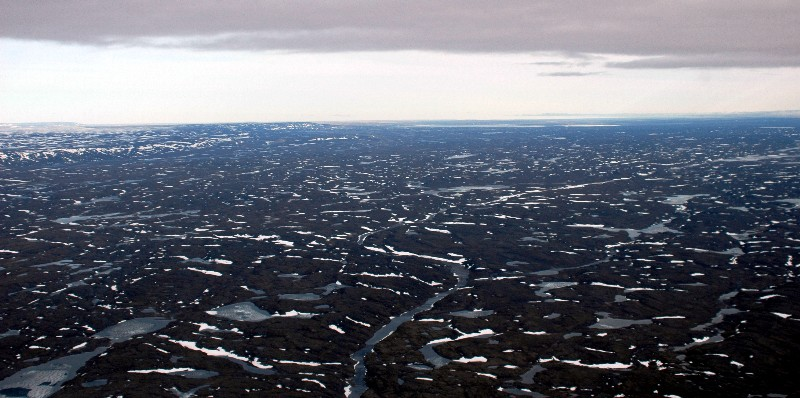 empty landscape of northern canada