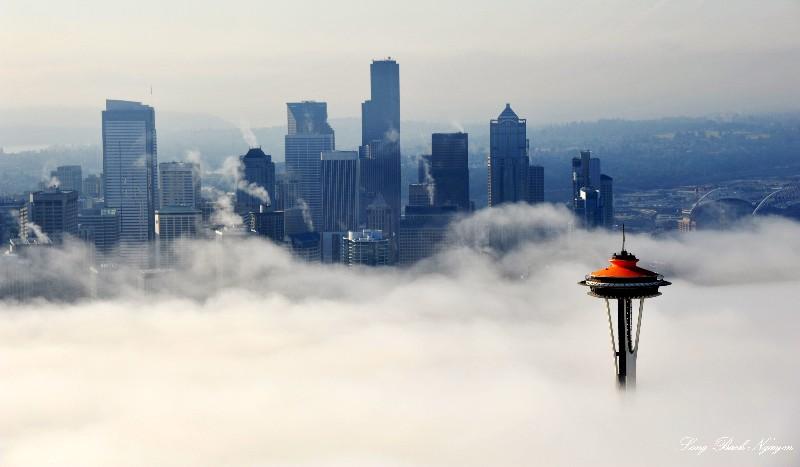 Space Needle,  Seattle Skyline,  Seattle,  Washington