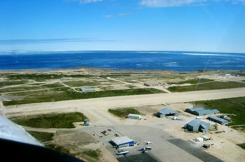 Churchill Airport and Hudson Bay