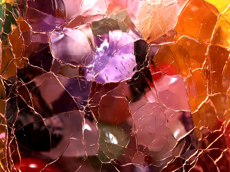 Cracked Glass 1 by Mike Parsons
