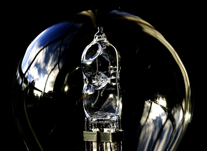 Bust Halogen Bulb by Mike Parsons