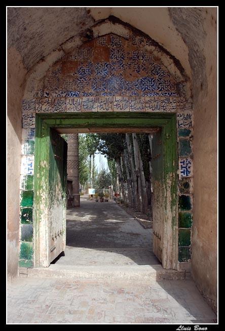 Door of Abakh Hoja tomb mausoleum