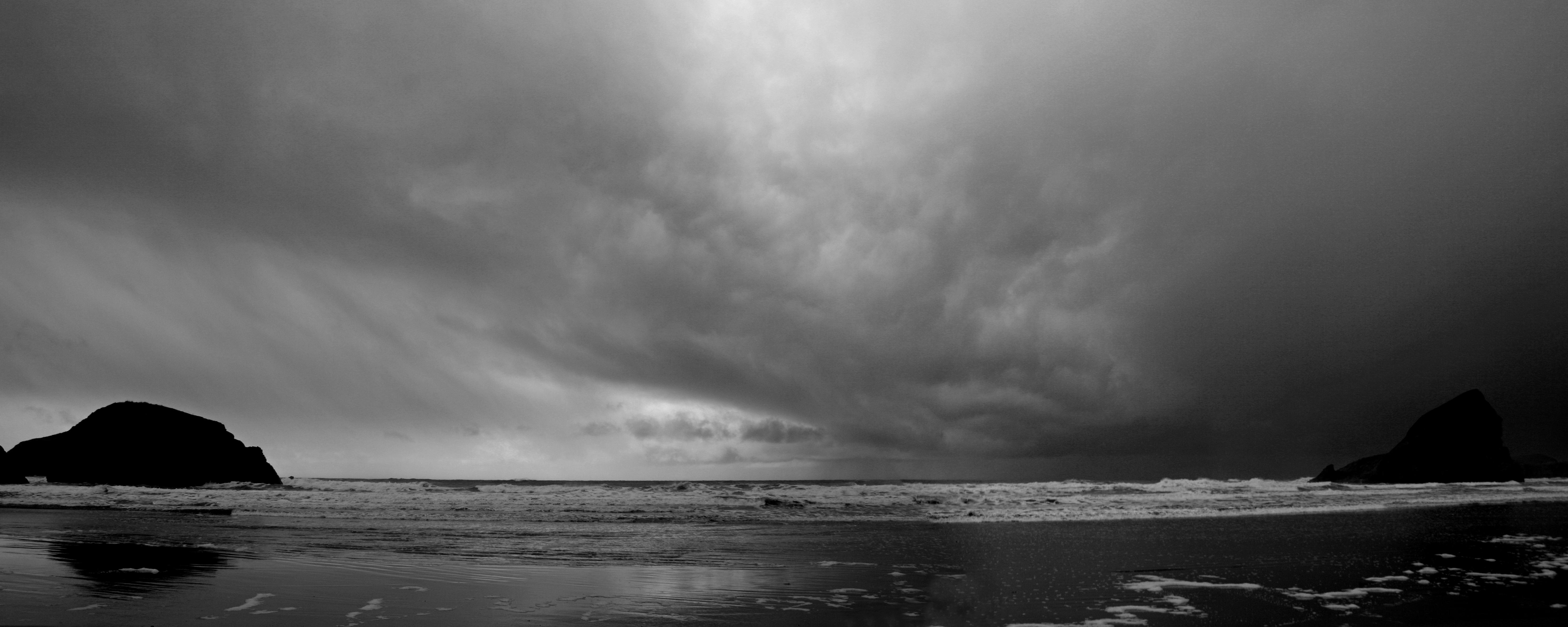 Winter Squall Line, Meyers Creek Beach, OR