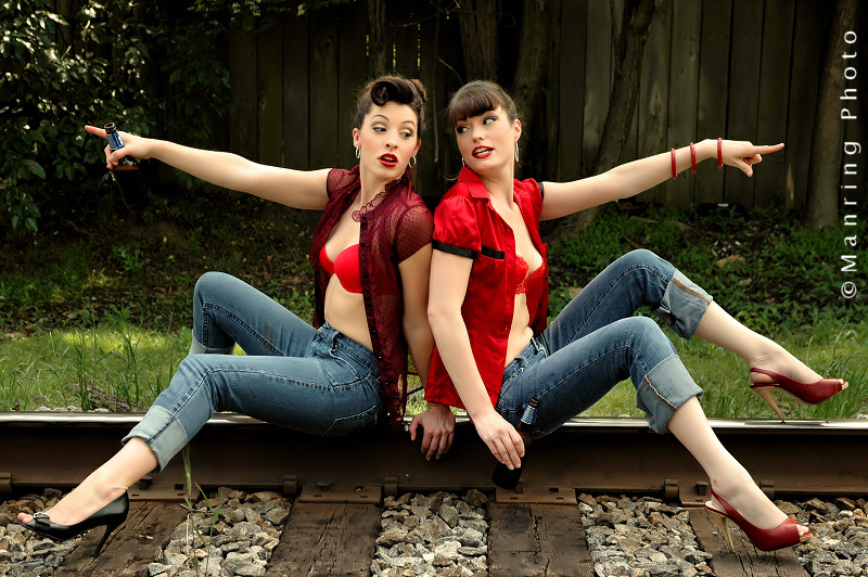 *Rockabilly Royalty*<br>Jenny & Em