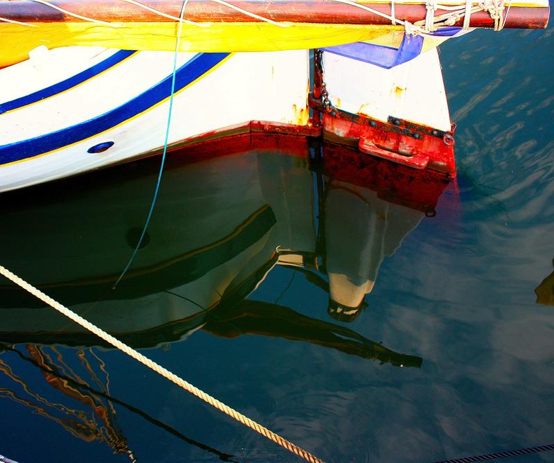 Old Sailing Ship at Anchor