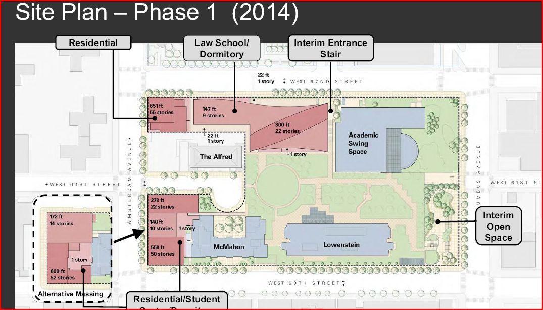 Campus Map Fordham.New York Fordham University Development 598 Ft 533 Ft 54