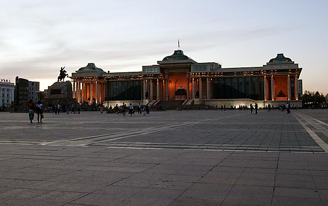 Sukhbaatar Square at Night