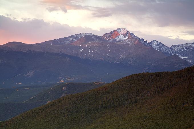 Longs Peak- Early Morning Glow