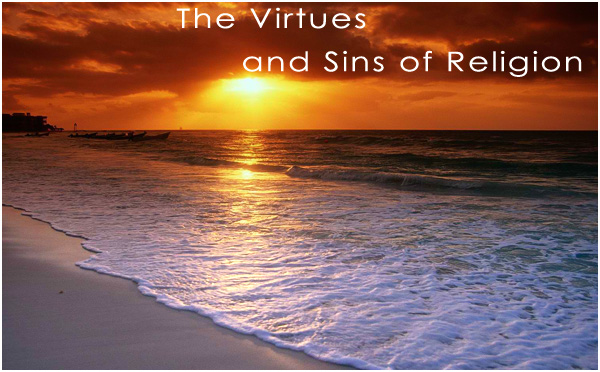 Sunset and sunrise on the beach - the dawning of spirituality