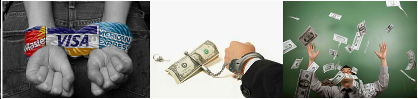 Money, credit and debt are the chains that keep us prisoner