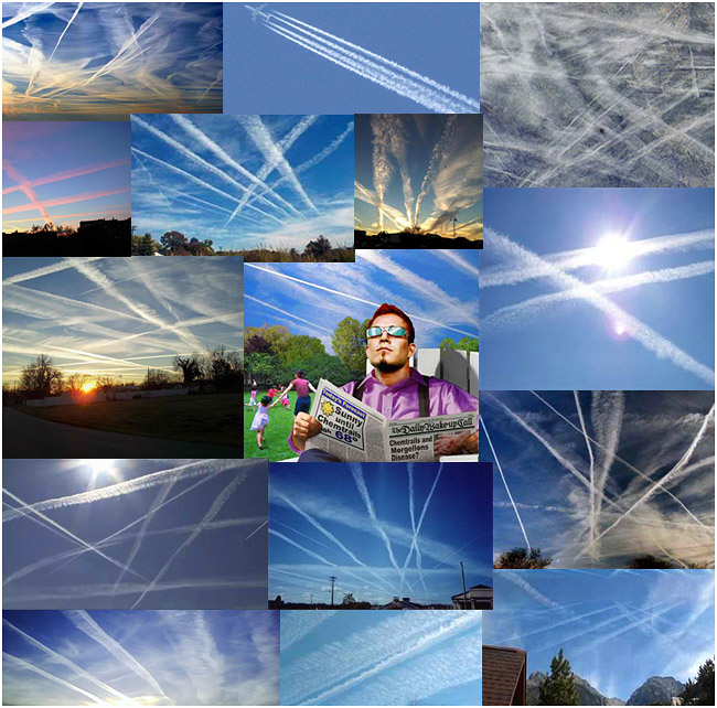 Chemtrails in the sky