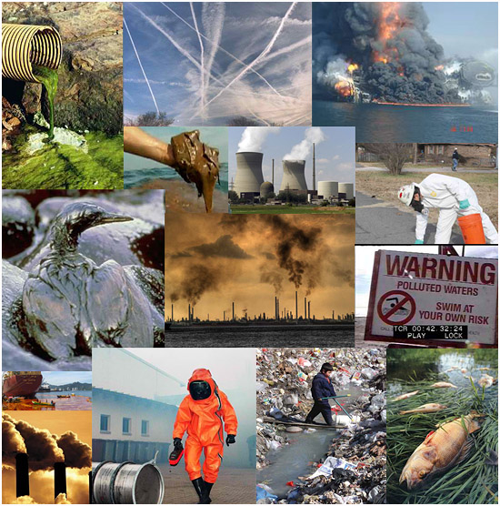 Environmental disasters - oil spills, radiation and pollution