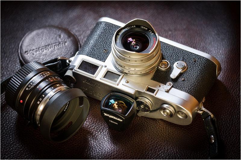 Leica M3 with Voightländer lenses