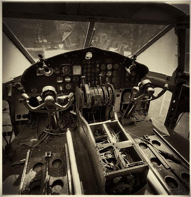 Cockpit Flying Boxcar